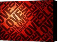 Red Crimson Canvas Prints - Love Letters Canvas Print by Michael Tompsett