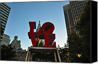 Love Park Canvas Prints - Love Park in Philadelphia Canvas Print by Bill Cannon