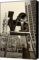 Philadelphia Canvas Prints - Love Philadelphia Canvas Print by Jack Paolini