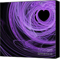 Julia Digital Art Canvas Prints - Love Swirls . Square . A120423.689 Canvas Print by Wingsdomain Art and Photography