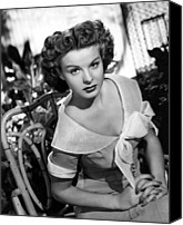 1950 Movies Photo Canvas Prints - Love That Brute, Jean Peters, 1950 Canvas Print by Everett