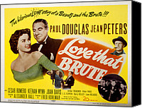 1950 Movies Canvas Prints - Love That Brute, Jean Peters, Paul Canvas Print by Everett