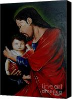Corel Painter Painting Canvas Prints - Love the Child Canvas Print by Jay Anthony Gonzales