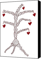 Valentines Day Canvas Prints - Love tree Canvas Print by Frank Tschakert