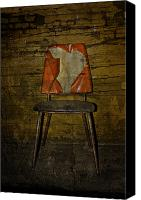 Rural Decay Framed Prints Canvas Prints - Loved Seat Canvas Print by Larysa Luciw