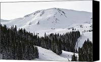 Loveland Canvas Prints - Loveland Pass Ski Area Colorado Canvas Print by Brendan Reals