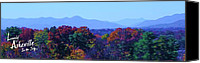 Barack And Michelle Obama Canvas Prints - Lovely Asheville Fall Mountains Canvas Print by Ray Mapp