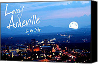 First Lady Digital Art Canvas Prints - Lovely Asheville Canvas Print by Ray Mapp