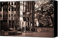 Love Park Canvas Prints - Lovely Canvas Print by Bill Cannon