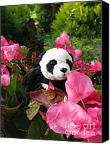 Baby Panda Canvas Prints - Lovely pink flower Canvas Print by Ausra Paulauskaite