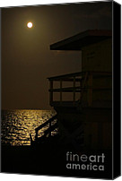 Atlantic Beaches Canvas Prints - Lovers Moon Canvas Print by Rene Triay Photography