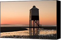 March Canvas Prints - Low Lighthouse Sunset Canvas Print by Anne Gilbert