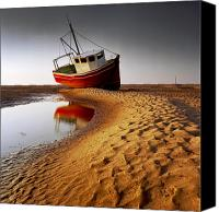 Featured Canvas Prints - Low Tide Canvas Print by Peter OReilly