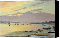 1919 Canvas Prints - Low Tide Canvas Print by W Savage Cooper