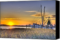 Low Country Canvas Prints - Lowcountry Sunset Canvas Print by Drew Castelhano