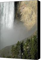 Yellowstone Park Canvas Prints - Lower Falls Closeup Canvas Print by Bruce Gourley