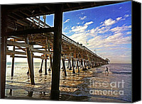 Clemente Canvas Prints - Lowtide at the Pier Canvas Print by Traci Lehman