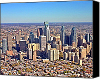 Philadelphia Skyline Canvas Prints - LRG Format Aerial Philadelphia Skyline 226 W Rittenhouse Sq 100 Philadelphia PA 19103 5738 Canvas Print by Duncan Pearson