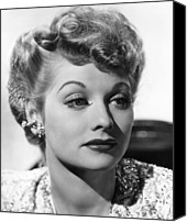 Ball Canvas Prints - Lucille Ball, Ca. 1940s Canvas Print by Everett
