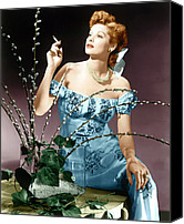 1940s Portraits Canvas Prints - Lucille Ball, Ca. Midlate 1940s Canvas Print by Everett