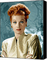 Ball Canvas Prints - Lucille Ball Canvas Print by Everett Collection