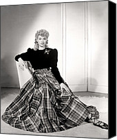 Ballet Slippers Canvas Prints - Lucille Ball In A Portrait, 1940s Canvas Print by Everett