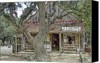 Willie Canvas Prints - Luckenbach 2 Canvas Print by Scott Norris