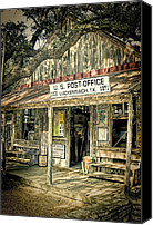 Willie Canvas Prints - Luckenbach TX Canvas Print by Scott Norris