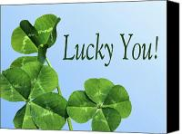 Good Luck Photo Canvas Prints - Lucky You Canvas Print by Kristin Elmquist