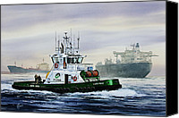 Tugboat Canvas Prints - Lucy Foss Canvas Print by James Williamson