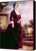 First Lady Canvas Prints - Lucy Ware Webb Hayes 1831-1889, First Canvas Print by Everett