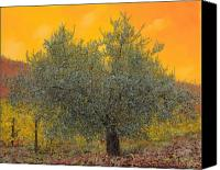 Tuscany Painting Canvas Prints - Lulivo Tra Le Vigne Canvas Print by Guido Borelli