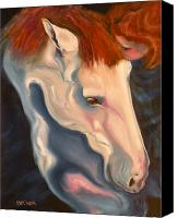 Horse Drawings Canvas Prints - Lullaby Canvas Print by Susan A Becker