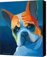 French Bulldog Canvas Prints - Lulu Canvas Print by Mike Lawrence