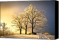 Nc Canvas Prints - Luminous - Blue Ridge Winter Sunset Canvas Print by Dave Allen