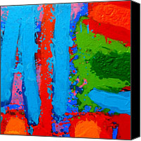 Luminous Canvas Prints - Luminous Blues Canvas Print by John  Nolan