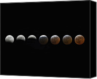 Number 7 Canvas Prints - Lunar Eclipse Sequence Canvas Print by Malcolm Park