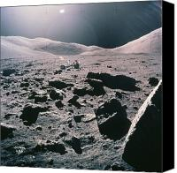 Camelot Canvas Prints - Lunar Rover At Rim Of Camelot Crater Canvas Print by NASA / Science Source