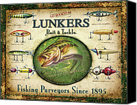 Advertising Canvas Prints - Lunkers Bait and Tackle Canvas Print by JQ Licensing