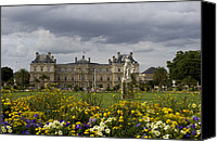 Le Jardin Canvas Prints - Luxembourg Palace Canvas Print by Keenpress