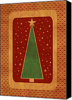 Christmas Cards Canvas Prints - Luxurious Christmas Card Canvas Print by Aimelle ML