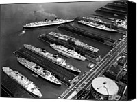 Csx Canvas Prints - Luxury Liners Flanking An Aircraft Canvas Print by Everett