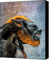 Mythology Canvas Prints - Lycan Canvas Print by Bob Orsillo