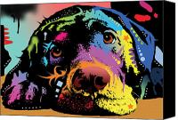 Labrador Retriever Canvas Prints - Lying Lab Canvas Print by Dean Russo