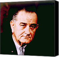 Lyndon Canvas Prints - Lyndon B. Johnson 1908-1972, U.s Canvas Print by Everett