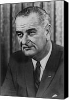 Lyndon Canvas Prints - Lyndon B Johnson Canvas Print by International  Images