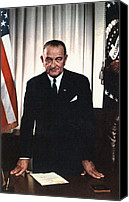 Lyndon Canvas Prints - Lyndon Johnson 1908-1972, U.s Canvas Print by Everett