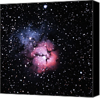 Mexico Canvas Prints - M20, The Trifid Nebula Canvas Print by A. V. Ley