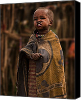 Tribe Canvas Prints - Maasai Boy Canvas Print by Adam Romanowicz