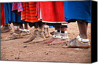 Tribe Canvas Prints - Maasai Feet Canvas Print by Adam Romanowicz